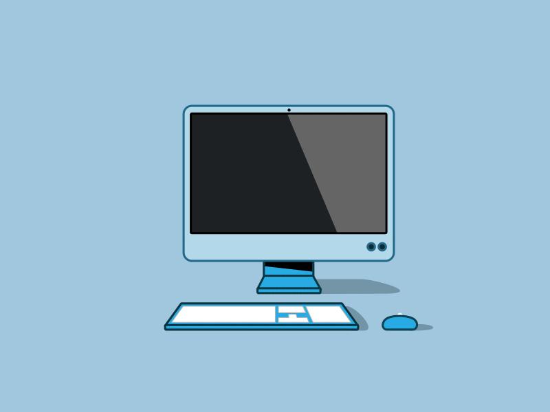 Днем, картинки компьютеров анимашки