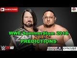 WWE SummerSlam 2018 SmackDown WWE Championship AJ Styles vs. Samoa Joe Predictions WWE 2K18