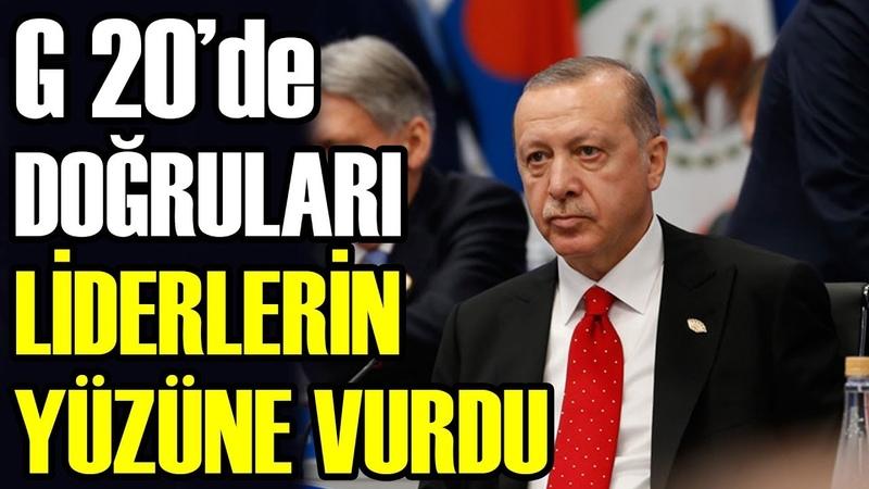 Erdoğan G20de Liderlere Tek Başına Karşı Çıktı