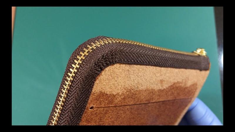 Technique to attach a Zipper / Leather Craft / Kikuyose / Simple
