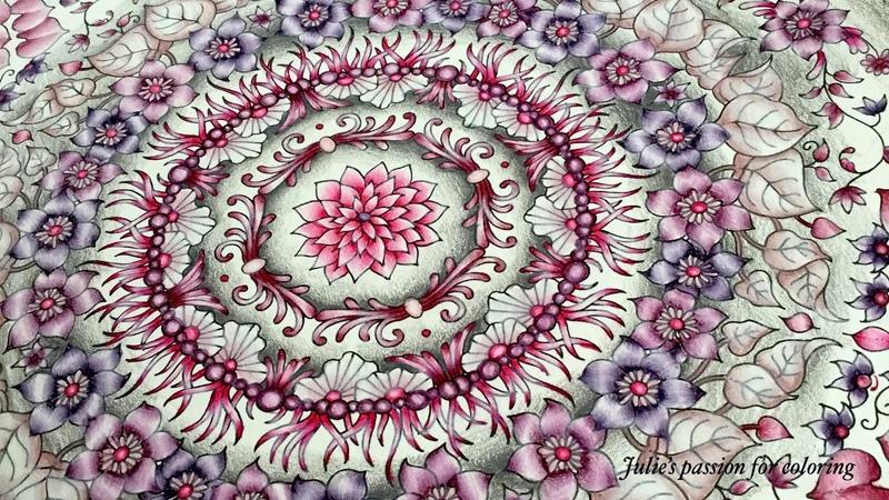 WORLD OF FLOWERS by Johanna Basford - prismacolor pencils - color along