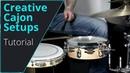 Build a Cajon Drum Set, that's how it works! Workshop Tutorial