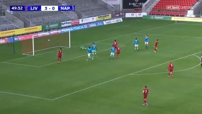 Curtis Jones Goal - Liverpool U19s 4-0 Napoli U19s UEFAYouthLeague