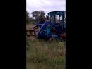 Покатушки на самодельном тракторе.