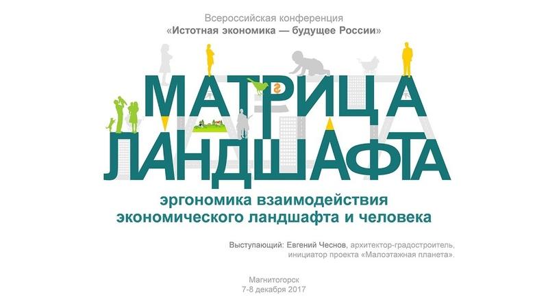 Евгений Чеснов Матрица ландшафта эргономика взаимодействия экономического ландшафта и человека