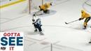 GOTTA SEE IT: Pekka Rinne Makes Nice Sliding Shorthanded Pad Save