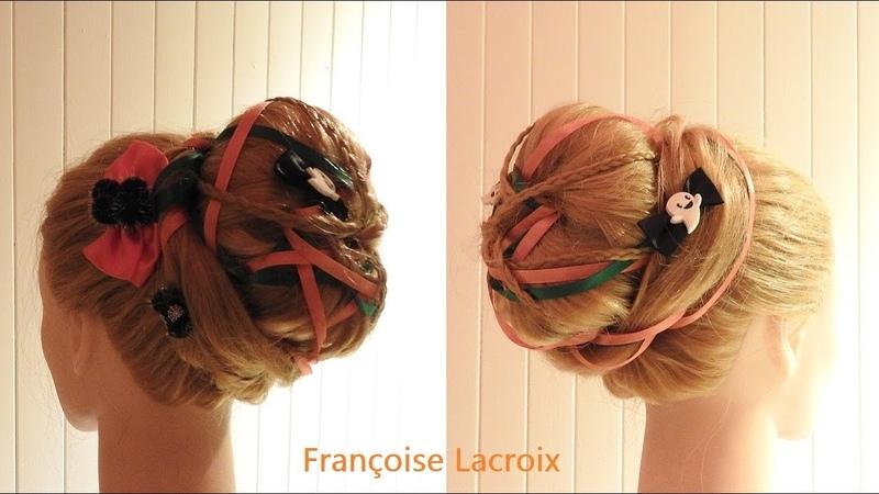 Coiffure Halloween 🎃 Halloween hairstyle 🎃 Peinado Halloween 🎃 Chignon | Updo | Recogido