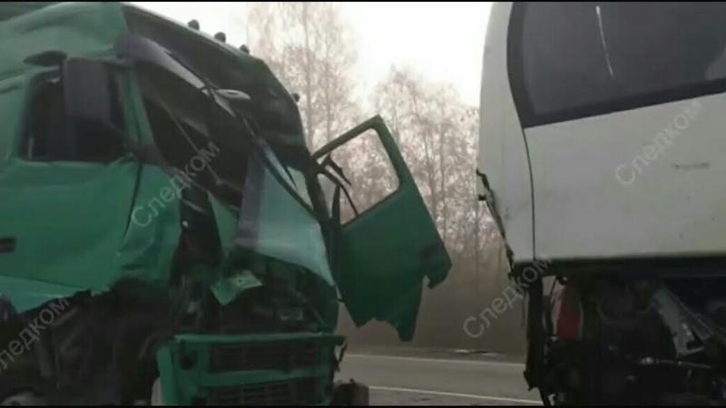 Двенадцать человек пострадали в двойном ДТП в Тверской области