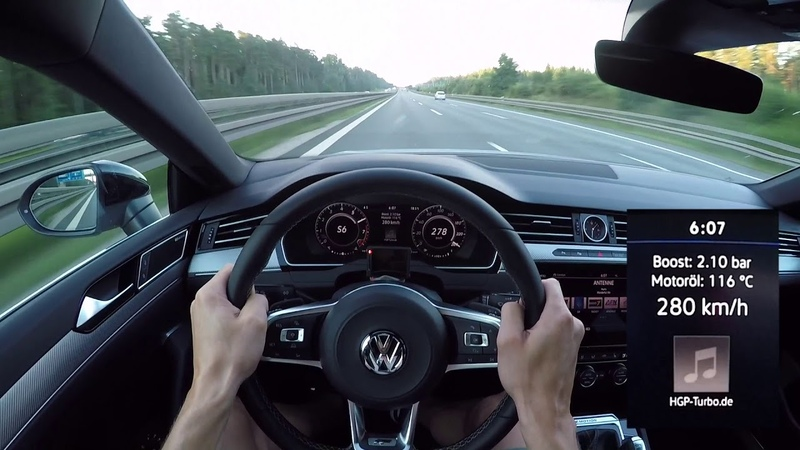 POV Style Highspeed im Volkswagen Arteon 2 0 TSI 480 PS by HGP Turbo Autobahn Edition 300 🏁✌🏼