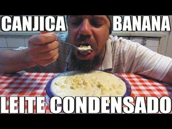 BLUEZAO COMENDO CANJICA COM BANANA E LEITE CONDENSADO