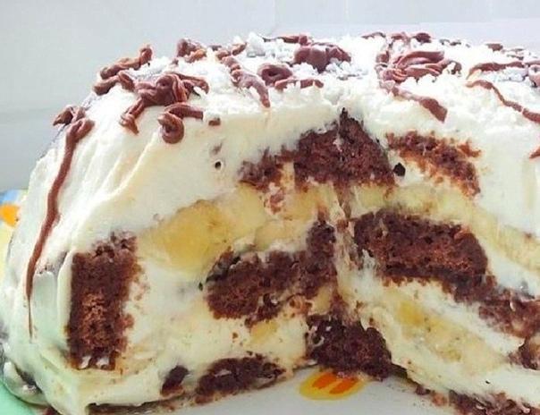 Торт БЕЗ ВЫПЕЧКИ всего из трёх ингредиентов! Это самый простой рецепт вкусного торта