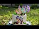 🎨Торт Бабочки 🦋МК вафельные бабочки ( English Subtitles ) - Я - ТОРТодел!