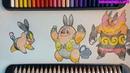 Vẽ cấp tiến hóa Pokemon Tepig-chú lợn lửa đáng yêu nhất