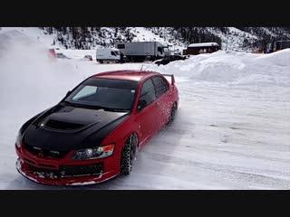 Snow driving in Livigno 2016 with Mitsubishi EVO 9