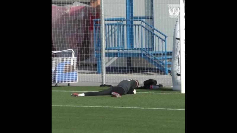 Лунін провів перше тренування за Леганес