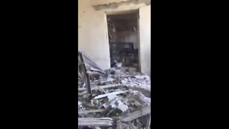 IRGC mass Fajr5C strike salvo aftermath , PDK member HQ destroyed 11 dead and a large