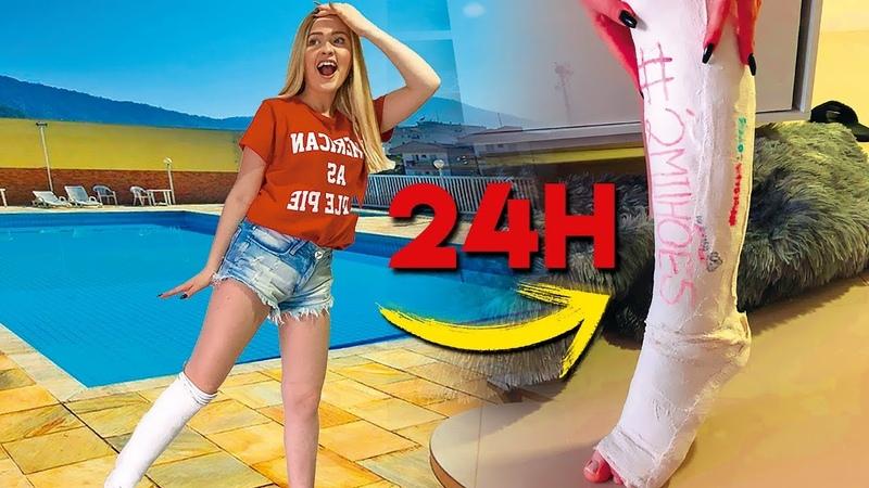 24 HORAS com a PERNA QUEBRADA😭 ‹ Morgana Santana ›