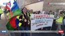 Марш протеста Жёлтых жилетов в городе Божанси