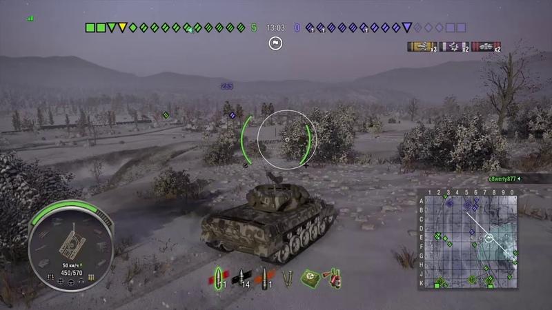 World of Tanks PS4 M18 Hellcat три отметки против ботов