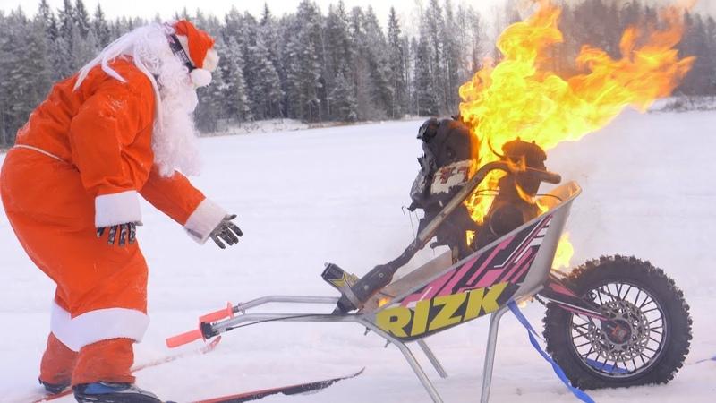 Motorized Wheelbarrow - Santa Claus special