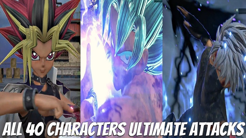 JUMP FORCE All Characters Ultimate Attacks Transformations All 40 Characters Full Game Roster