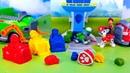 Щенячий патруль Набор для лепки любимых героев Учим цвет Пластилин как Play Doh Распаковка и Лепка