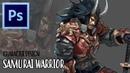 Character Design - Samurai Warrior  Photoshop Painting