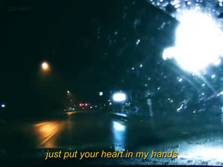 Taehyun's over and over again while driving in the rain