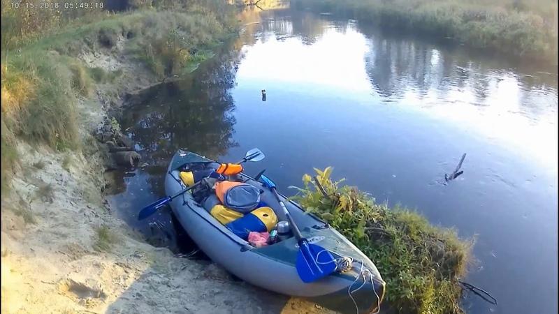 Сплав. Река Нарочанка (Нарочь). Байдарки. Осень. Октябрь 2018. Kayak rafting. Belarusian.