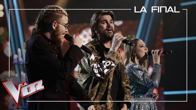 Andrés Martín y María Espinosa cantan con Juanes 'La Plata' La Final La Voz Antena 3