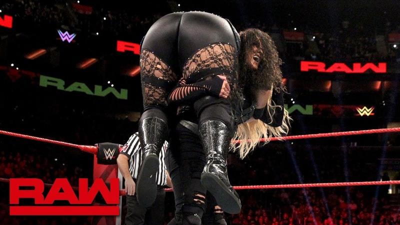 Nia Jax Ember Moon vs. Dana Brooke Tamina: Raw, Oct. 15, 2018