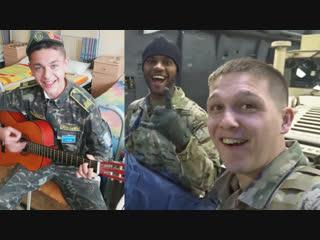 American soldiers visit Ukrainian cadets. Американские солдаты встретились с украинскими военными курсантами.
