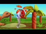 Walk Like a Dinosaur with Matt Fun Childrens Song, Action Song Learn English Kids