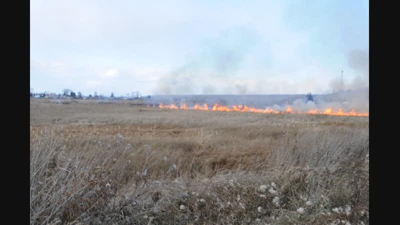 Пожар в Заозерном