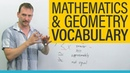 MATH GEOMETRY Vocabulary and Terminology in English