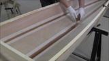 Bau eines Holzkajaks. Lektion 7 Spachtelkehlen auftragen