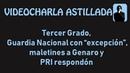 """Tercer Grado, Guardia Nacional con """"excepción"""", maletines a Genaro y PRI respondón"""