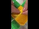 Супер простой способ вязания домашних тапочек квадратами на двух спицах.