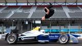 Leap Of Faith Damien Walters Backflip Over Speeding Formula E Car