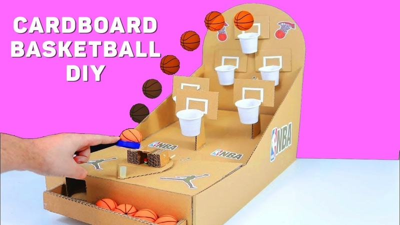 Сardboard games How to make Basketball DIY at Home for KIDS