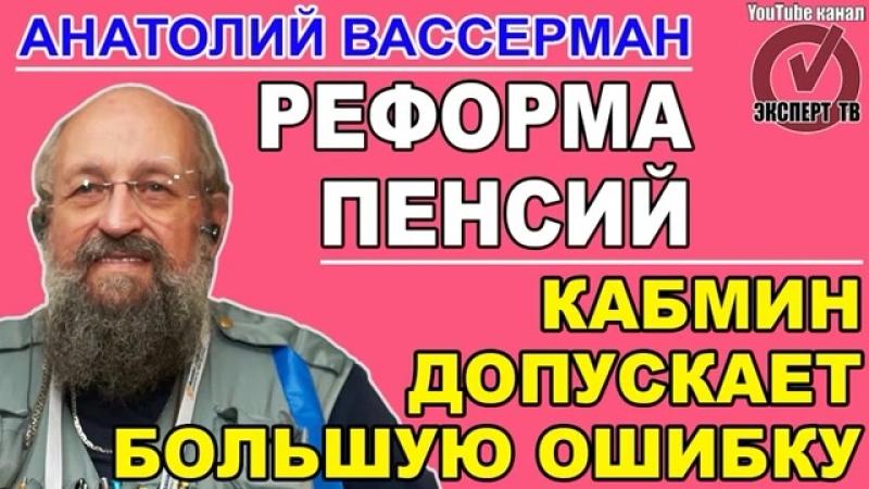 Анатолий Вассерман повышение пенсионого возраста - это логика торгашей 06.07.2018