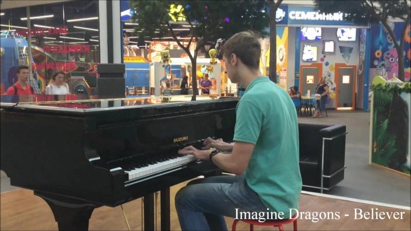 Игра на рояле в ТЦ Зеленопарк Никита Калмыков