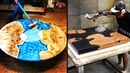 10 Amazing Epoxy Resin and Wood River Table Designs DIY Woodworking Projects