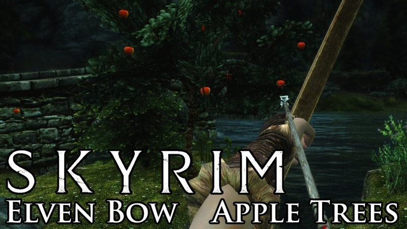 Skyrim Mod: New Elven Bow Apple Trees