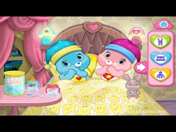 Care Bears Rainbow Playtime -Bedtime with Hugs Bear and Tugs Bear