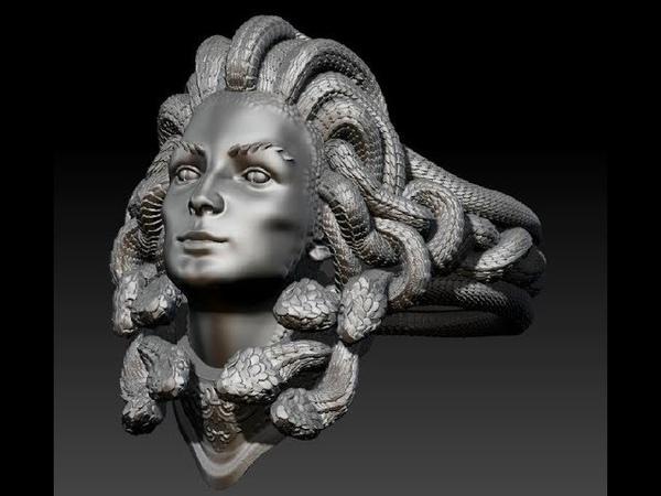 Кольцо Горгона 3Д модель Ring GORGONA 3D model Zbrush