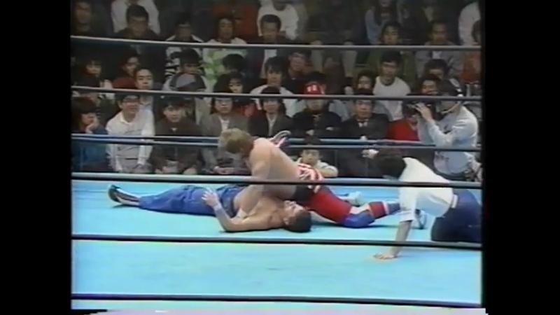 1991.04.20 - Dynamite Kid/Johnny Smith vs. Doug Furnas/Dan Kroffat [JIP]