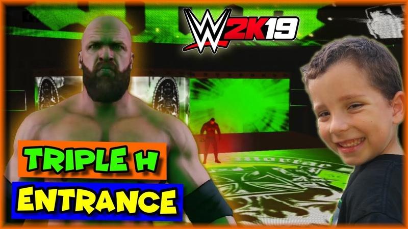 WWE 2K19 Triple H Entrance The Game HHH Entrance WWE 2K19