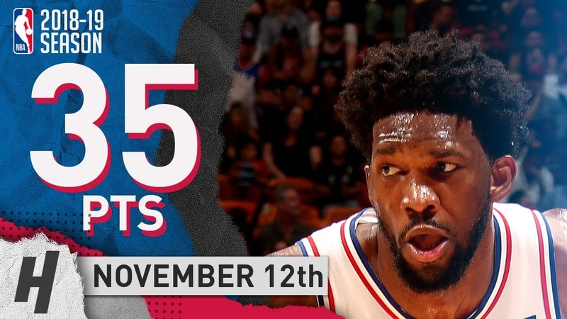 Joel Embiid Full Highlights 76ers vs Heat 2018.11.12 - 35 Pts, 3 Ast, 18 Rebounds!