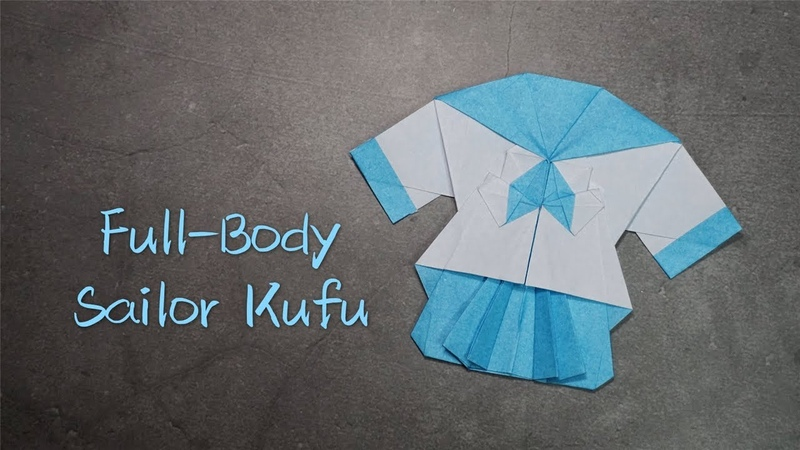 Origami Tutorial Full-Body Sailor Fuku (Kota Imai)